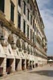 Beroemde Liston-straat in de Stad van Korfu (Griekenland) Stock Fotografie