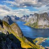 Beroemde Lofoten, het Landschap van Noorwegen, Nordland Royalty-vrije Stock Foto