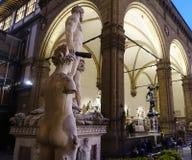 Beroemde Loggiade'lanzi, Florence, Italië Stock Foto's