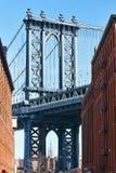 Beroemde mening bij de Brug van Manhattan van Brooklyn Royalty-vrije Stock Foto