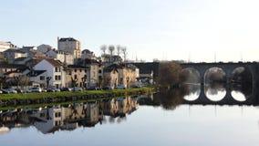 Beroemde mening in Limoges, Frankrijk stock video