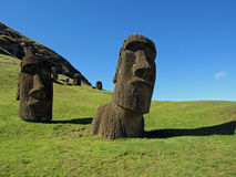 Beroemde Moai royalty-vrije stock fotografie
