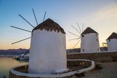Beroemde molens van Mykonos royalty-vrije stock foto