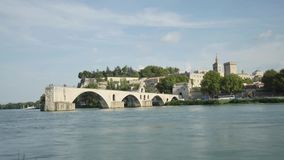 Beroemde monumenten van Avignon, Frankrijk stock video