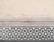 Beroemde mozaïekstoep in Leblon-Strand, Rio de Janeiro Stock Foto's