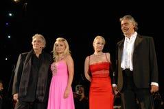 Andrea Bocelli & vrienden Stock Afbeeldingen