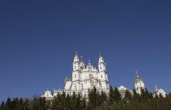 Beroemde Orthodoxe Kerk in Europa Royalty-vrije Stock Afbeelding