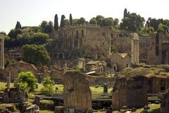 Beroemde oude ruïnes in Rome Royalty-vrije Stock Afbeelding