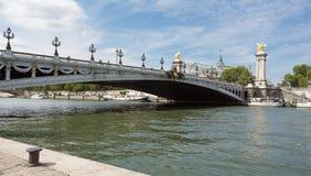Beroemde Pont-Brug Alexandre III, Parijs, Frankrijk Stock Afbeelding
