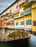 Beroemde pontevecchio in Florence stock foto's
