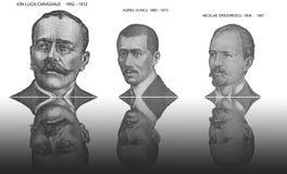 Beroemde portretten Stock Foto's