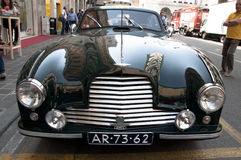 Beroemde ras retro auto's Mille Miglia Stock Afbeeldingen