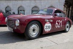 Beroemde ras retro auto's Mille Miglia Royalty-vrije Stock Foto