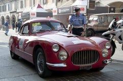 Beroemde ras retro auto's Mille Miglia Stock Fotografie