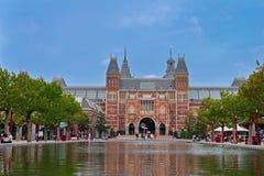 Beroemde Rijksmuseum in Amsterdam Stock Foto's