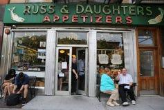 Beroemde Russ & Dochters smakelijke die opslag in 1914 in de Lagere Kant van het Oosten wordt geopend Stock Foto's