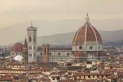 Beroemde Santa Maria del Fiore cathedrall, Duomo door Brunelleschi royalty-vrije stock afbeelding