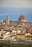 Beroemde Santa Maria del Fiore cathedrall, Duomo door Brunelleschi royalty-vrije stock afbeeldingen