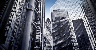 Beroemde skysrcapers, Londen Stock Afbeeldingen
