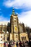 Beroemde St Vitus Cathedral Prague, Tsjechische Republiek Stock Afbeelding