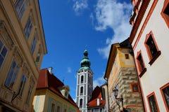 Beroemde stad, cesky krumlov in de zomer van 2011 Stock Foto's