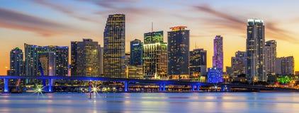 Beroemde stad van Miami Stock Afbeeldingen