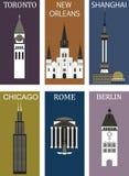 Beroemde steden 2. royalty-vrije illustratie