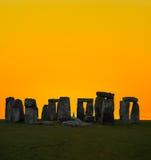 Beroemde Stonehenge in Engeland Stock Foto