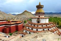 Beroemde stupa Kumbum in Gyantse, Tibet Royalty-vrije Stock Foto