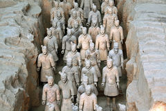Beroemde terracottastrijders in Xian, China Stock Fotografie