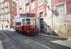 Beroemde tram in lissabon Royalty-vrije Stock Fotografie
