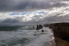 Beroemde 4 van 12 Apostel, Victoria, de Twaalf Apostelen, Grote Oceaanweg, Victoria royalty-vrije stock fotografie