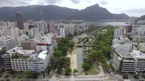 Beroemde vierkanten van de wereld Satellietbeeld van de reeks vierkanten als de Tuin van Allah worden bekend die Rio de Janeiro B stock videobeelden