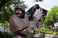 Beroemde Vijf standbeeldaka, Calgary, Canada Royalty-vrije Stock Afbeeldingen