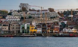 Beroemde wijnkelders in villa nova Di Gaia porto royalty-vrije stock fotografie