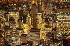 Beroemde wolkenkrabbers van New York Stock Foto's