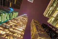 Beroemde wolkenkrabbers van New York Stock Foto