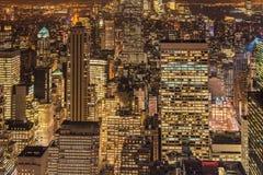 Beroemde wolkenkrabbers van New York Royalty-vrije Stock Afbeeldingen