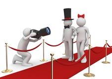 Beroemdheden op rood tapijt Royalty-vrije Stock Afbeelding