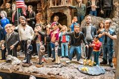 Beroemdheidstandbeeld in Napels Stock Foto's