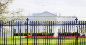 Beroemdste adres in de Verenigde Staten - het Witte Huis - WASHINGTON DC - COLOMBIA - APRIL 7, 2017 Stock Foto's