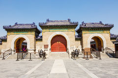 beroemdste oude architectuur van de wereld de van de tempel van hemel in Peking, China stock foto