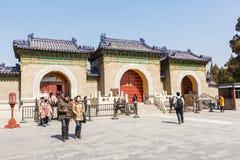 beroemdste oude architectuur van de wereld de van de tempel van hemel in Peking, China stock foto's