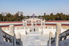 beroemdste oude architectuur van de wereld de van de tempel van hemel in Peking, China royalty-vrije stock afbeelding