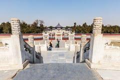 beroemdste oude architectuur van de wereld de van de tempel van hemel in Peking, China royalty-vrije stock foto's