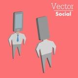 Beroende av telefonen vektor illustrationer
