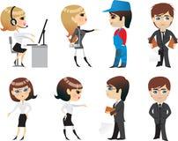 Beroep, bureau, karakter Stock Foto's