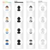 Beroep, roeping, hobby en ander Webpictogram in beeldverhaalstijl Politieagent, kenteken, textiel, pictogrammen in vastgestelde i vector illustratie