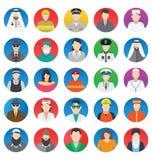 Beroeps en Mensen geplaatste Kleuren Vectorpictogrammen die gemakkelijk kunnen worden gewijzigd of Beroeps en Mensen geplaatste K stock illustratie