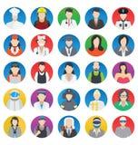 Beroeps en Mensen geplaatste Kleuren Vectorpictogrammen die gemakkelijk kunnen worden gewijzigd of uitgeven royalty-vrije illustratie
